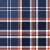 Błękitnego czek tkaniny tekstury piksla bezszwowy wzór Obrazy Royalty Free