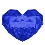 Błękitnego diamentu kształtny serce Zdjęcia Stock
