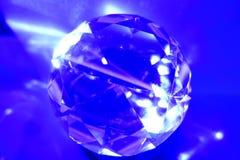 Błękitnego diamentu rżnięty okrąg Obrazy Stock