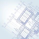 Błękitnego druku architekt Obraz Stock