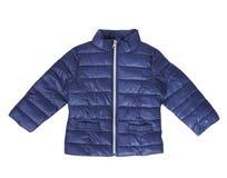 Błękitnego dziecka żakieta dziecka mody odzież odizolowywał nikt Obrazy Stock