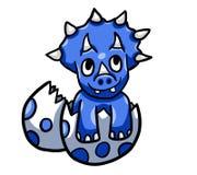 Błękitnego dziecka Triceratops ilustracji