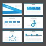 Błękitnego etykietki Infographic elementów ikony prezentaci szablonu płaski projekt ustawia dla reklamowej marketingowej broszurk Zdjęcia Royalty Free