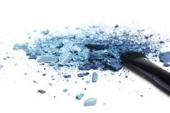 Błękitnego eyeshadow różni cienie z makeup muśnięciem Obraz Royalty Free