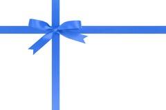 Błękitnego faborku krzyż z łękiem dla pakować z obraz stock