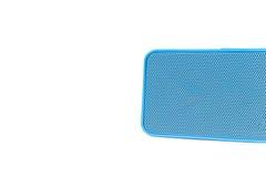 Błękitnego głośnika Błękitny ząb - odizolowywający na białym tle Obraz Stock