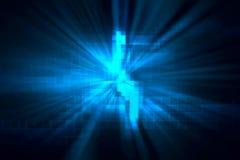 Błękitnego geometrycznego kształta technologii abstrakcjonistyczny tło royalty ilustracja