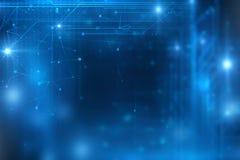 Błękitnego geometrycznego kształta technologii abstrakcjonistyczny tło ilustracja wektor