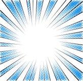 Błękitnego halftone promieniowa prędkość wykłada dla komiksu ilustracji