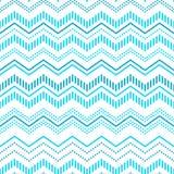 Błękitnego i białego szewronu ornamentu geometryczny abstrakcjonistyczny bezszwowy wzór, wektor Fotografia Royalty Free