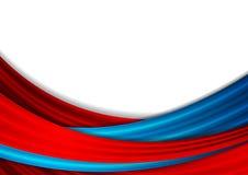 Błękitnego i czerwonego abstrakta fala gładki tło ilustracja wektor