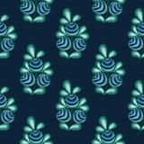 Błękitnego jagoda wzoru bezszwowego zapasu naturalny tło Zdjęcia Royalty Free