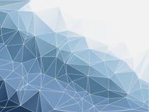 Błękitnego koloru abstrakcjonistyczny poligonalny Geometryczny Fotografia Royalty Free