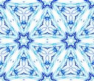 Błękitnego kwiatu Fractal Cienki wzór Obrazy Stock