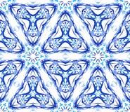 Błękitnego kwiatu Fractal Trójgraniasty wzór Zdjęcie Royalty Free