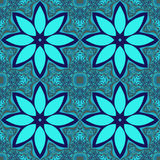 Błękitnego kwiatu kafelkowy fractal Zdjęcia Stock