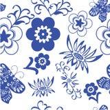 Błękitnego kwiatu sealess wzór Royalty Ilustracja