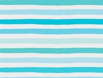 Błękitnego lampasa wzór na bieliźnianej tkaninie Obraz Royalty Free
