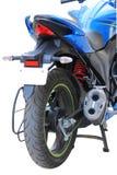 Błękitnego motocyklu tylni widok Zdjęcie Royalty Free