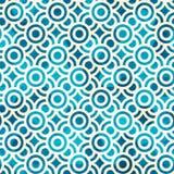 Błękitnego okręgu bezszwowy wzór z grunge skutkiem Obrazy Royalty Free