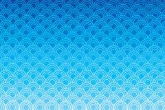 Błękitnego okręgu falowy wzór Fotografia Royalty Free