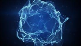 Błękitnego osocza spheric forma Zdjęcia Royalty Free