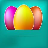 Błękitnego papieru Easter jajka karta. + EPS8 Zdjęcie Stock