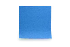 Błękitnego papieru kija notatka na białym tle Obrazy Royalty Free