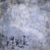 Błękitnego rocznika Kwiecisty Papierowy tło Zdjęcia Royalty Free