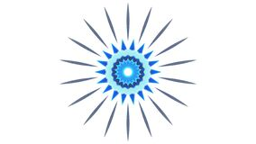 Błękitnego słońca graficzny projekt na białym tle ilustracja wektor