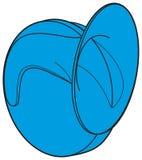 Błękitnego samochodowego rogu znaka frontowy widok Royalty Ilustracja