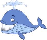 Błękitnego wieloryba kreskówka ilustracja wektor