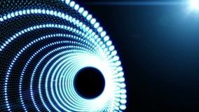 Błękitnej Abstrakcjonistycznego przedmiota cząsteczki bezszwowy tło zdjęcie wideo