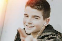 błękitnej chłopiec kamery przyrządu skutka form upału cyfrowego wizerunku modela fotografii portreta infrared robi nie napromieni Obraz Royalty Free