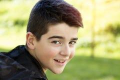 błękitnej chłopiec kamery przyrządu skutka form upału cyfrowego wizerunku modela fotografii portreta infrared robi nie napromieni Zdjęcia Stock