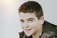 błękitnej chłopiec kamery przyrządu skutka form upału cyfrowego wizerunku modela fotografii portreta infrared robi nie napromieni Fotografia Stock