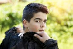 błękitnej chłopiec kamery przyrządu skutka form upału cyfrowego wizerunku modela fotografii portreta infrared robi nie napromieni Fotografia Royalty Free