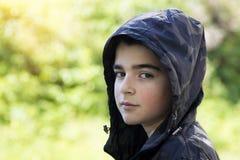 błękitnej chłopiec kamery przyrządu skutka form upału cyfrowego wizerunku modela fotografii portreta infrared robi nie napromieni Zdjęcie Royalty Free