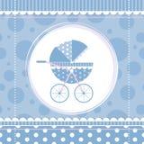 Błękitnej chłopiec wózek spacerowy Obrazy Royalty Free
