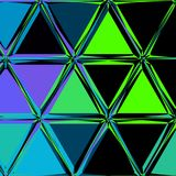 Błękitnej cyraneczki poligonalny abstrakcjonistyczny tło Niski poli- kryształu wzór ilustracja wektor