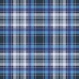 Błękitnej czek tkaniny tekstury diagonalny bezszwowy wzór Obraz Royalty Free