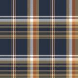 Błękitnej czeka piksla tkaniny tekstury bezszwowy wzór Obrazy Stock