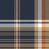 Błękitnej czeka piksla tkaniny tekstury bezszwowy wzór Obrazy Royalty Free