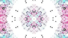 Błękitnej czerwieni niski poli- geometryczny abstrakcjonistyczny tło jako poruszający witrażu lub kalejdoskopu skutek w 4k Pętla  zbiory