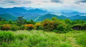 Błękitnej grani Appalachian góry Pólnocna Karolina Obrazy Royalty Free