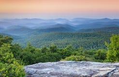 Błękitnej grani Appalachian góry Zachodni Pólnocna Karolina NC Zdjęcia Royalty Free