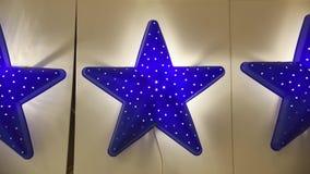 Błękitnej gwiazdy lampy dla domowego wnętrza Zdjęcia Royalty Free