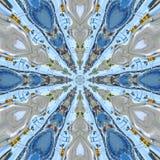 Błękitnej gwiazdy mandala z serce elementami ilustracji