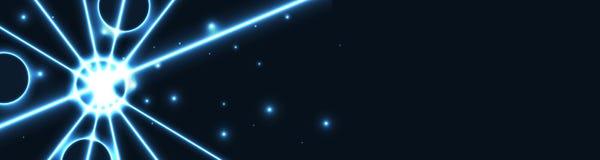 Błękitnej gwiazdy sieci sztandar Obrazy Royalty Free