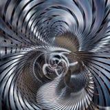 Błękitnej i srebnej kruszcowej spirali coiled abstrakt ilustracji